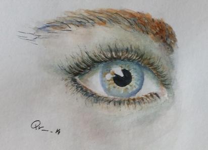 El ojo de ella.