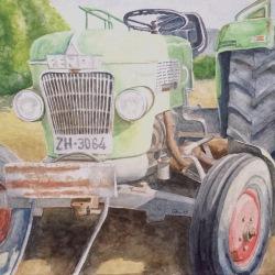 Dani, su tractor.